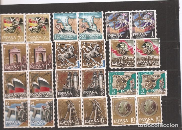 SELLOS DE ESPAÑA AÑO 1961 XX ANIVERSARIO ALZAMIENTO SELLOS NUEVOS** EN PAREJA (Sellos - España - II Centenario De 1.950 a 1.975 - Nuevos)