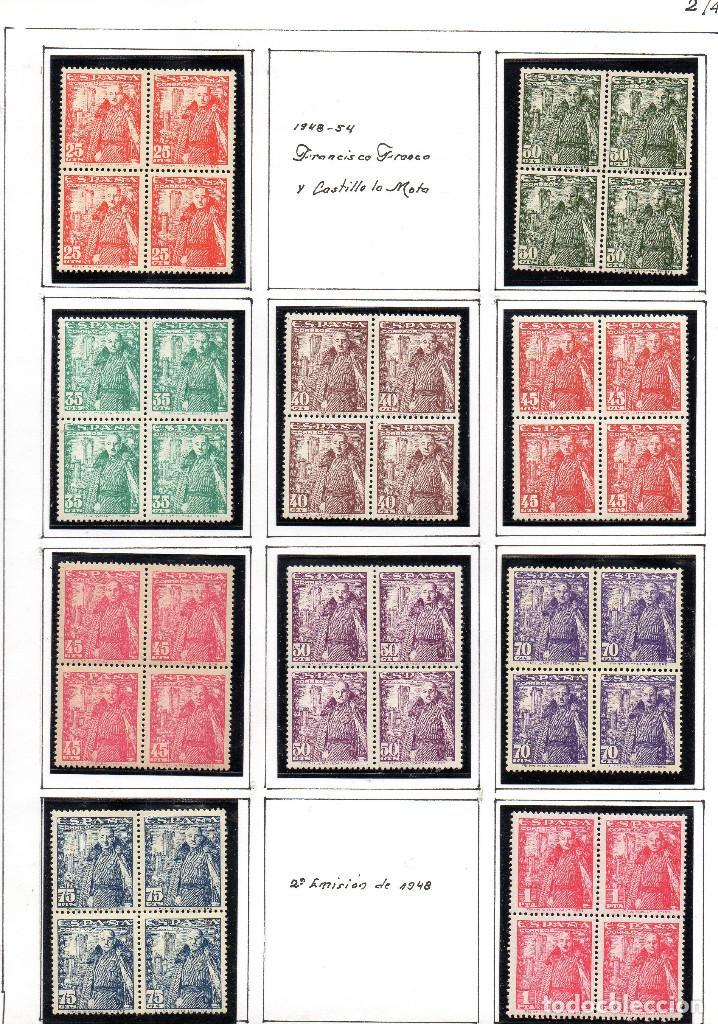 SELLOS DE ESPAÑA AÑO 1948 GENERAL FRANCO EN BLOQUE DE 4 NUEVO ** (Sellos - España - II Centenario De 1.950 a 1.975 - Nuevos)