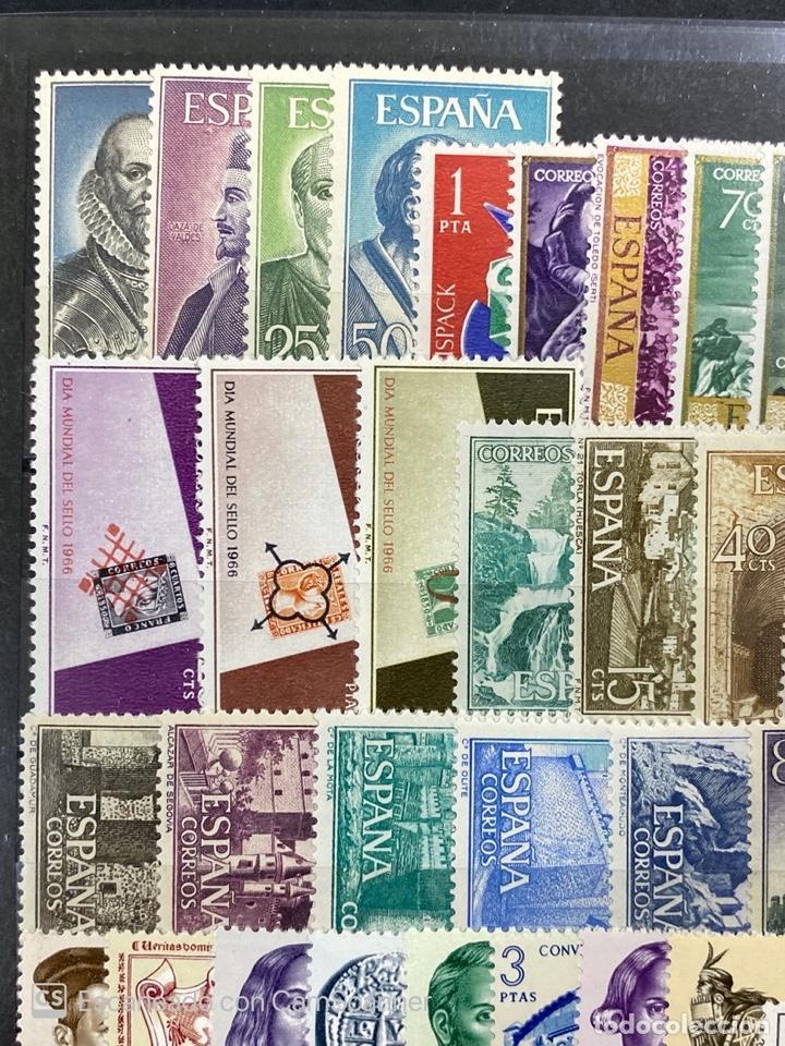 Sellos: SELLOS. ESPAÑA. AÑO 1966 COMPLETO. NUEVO. VER FOTOS - Foto 2 - 211751760
