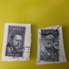 Sellos: 1953 ESPAÑA EDIFIL 1124/25 LEGAZPI Y SOROLLA USADO. Lote 212142403