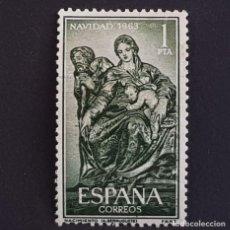 Francobolli: ESPAÑA,1963, NAVIDAD, NACIMIENTO, ALONSO DE BERRUGUETE, EDIFIL 1535, USADO, ( LOTE AR ). Lote 212196532