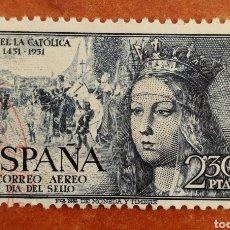 Francobolli: ESPAÑA, N°1101 USADO, ISABEL AÉREA 1951 (FOTOGRAFÍA REAL). Lote 212372143