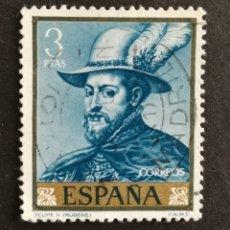 Sellos: ESPAÑA, N°1436 USADO, AÑO 1962 (FOTOGRAFÍA ESTÁNDAR). Lote 212419111
