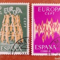 Sellos: ESPAÑA, EUROPA CEPT 1972 USADA (FOTOGRAFÍA ESTÁNDAR ). Lote 270353533