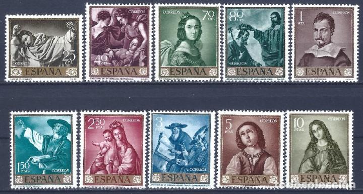 EDIFIL 1418-1427 FRANCISCO DE ZURBARÁN 1962 (SERIE COMPLETA). VALOR CATÁLOGO: 22 €. MNH ** (Sellos - España - II Centenario De 1.950 a 1.975 - Nuevos)