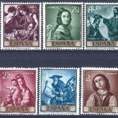 Sellos: EDIFIL 1418-1427 FRANCISCO DE ZURBARÁN 1962 (SERIE COMPLETA). VALOR CATÁLOGO: 22 €. MNH **. Lote 270163648
