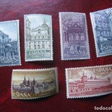 Timbres: -1961, MONASTERIO DE SAN LORENZO DE EL ESCORIAL, EDIFIL 1382/87. Lote 213393126