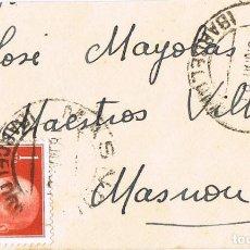 Selos: 0841. CARTA MASNOU (BARCELONA) 1961. SELLO CAUDILLO PIE IMPRENTA FNMT-B BARCELONA. Lote 213480085