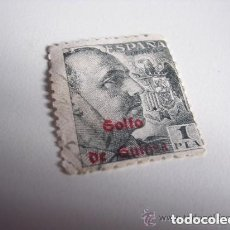 Sellos: ESPAÑA 1 PESETA CON SELLO DEL GOLFO DE GUINEA. Lote 213488252