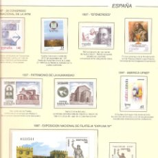 Sellos: SELLOS DE ESPAÑA AÑO 1997 AÑO COMPLETO SELLOS NUEVOS** CON HB , MONTADO EN HOJAS FILABO COLOR CREMA. Lote 213495201