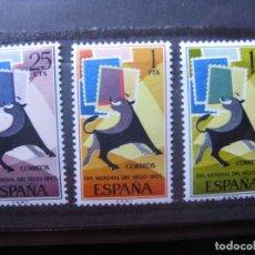 Sellos: -1965, DIA MUNDIAL DEL SELLO, EDIFIL 1667/69. Lote 213681971