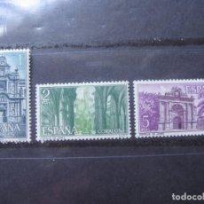 Sellos: -1966, CARTUJA STA.Mª DE LA DEFENSION, JEREZ, EDIFIL 1761/63. Lote 213698396