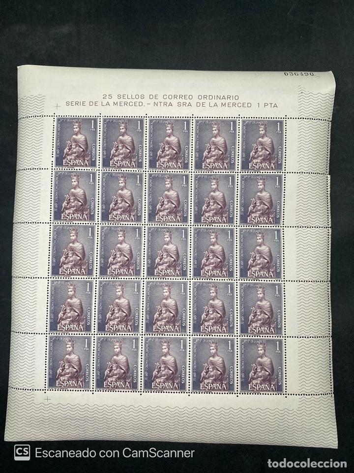 PLIEGO COMPLETO. ESPAÑA 1963. EDIFIL 1521. NTRA. SEÑORA DE LA MERCED. 1 PTA. NUEVO. VER FOTOS (Sellos - España - II Centenario De 1.950 a 1.975 - Nuevos)