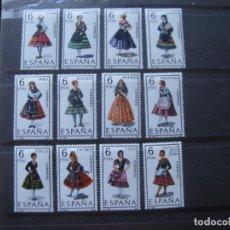Sellos: -1967, TRAJES TIPICOS ESPAÑOLES, GRUPO I, EDIFIL 1767/78. Lote 213698947