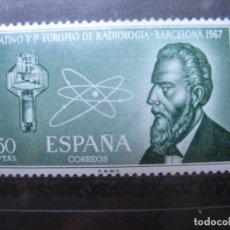 Sellos: -1967, CONGRESO DE RADIOLOGIA EN BARCELONA, EDIFIL 1790. Lote 213700507