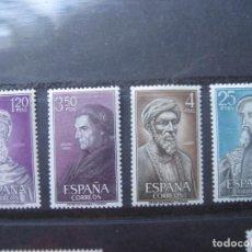 Sellos: -1967, PERSONALES ESPAÑOLES, EDIFIL 1791/94. Lote 213700680