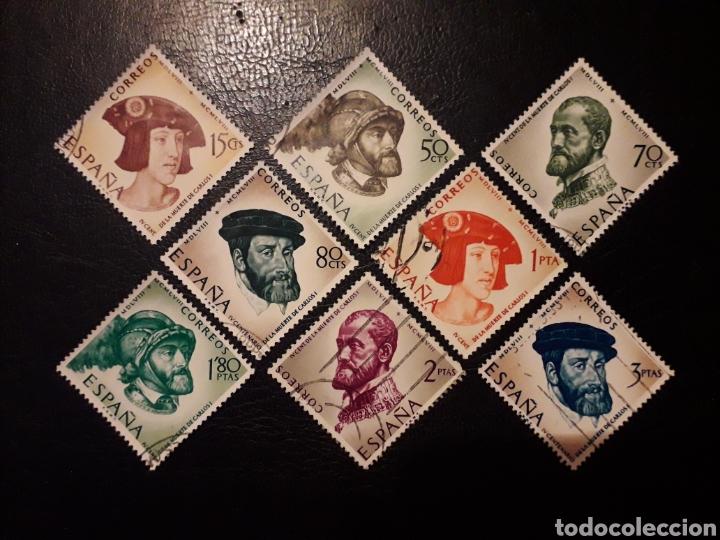 ESPAÑA EDIFIL 1224/31 SERIE COMPLETA USADA. IV CENT. CARLOS I DE ESPAÑA Y V° DE ALEMANIA 1958. (Sellos - España - II Centenario De 1.950 a 1.975 - Usados)