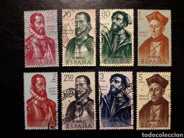 ESPAÑA EDIFIL 1454/61 SERIE COMPLETA USADA. FORJADORES DE AMÉRICA. 1962. (Sellos - España - II Centenario De 1.950 a 1.975 - Usados)