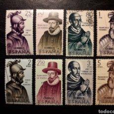 Sellos: ESPAÑA EDIFIL 1622/9 SERIE COMPLETA USADA. FORJADORES DE AMÉRICA. 1964.. Lote 213751632