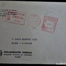 Sellos: VIGO GALICIA FRANQUEO MECÁNICO ORGAJIZACIÓN SINDICAL 1968. Lote 213764380
