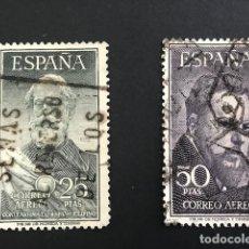 Sellos: EDIFIL 1124 1125 SELLOS ESPAÑA AÑO 1953 LEGAZPI Y SORROLLA USADOS. Lote 213969787