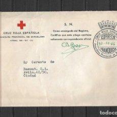 Francobolli: CARTA CRUZ ROJA BARCELONA CIUDAD. DD. 30-10-1966. Lote 214093736