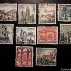 Sellos: ESPAÑA EDIFIL 1541/50 SERIE COMPLETA USADA. PAISAJES Y MONUMENTOS. TURISMO 1964.. Lote 214441646