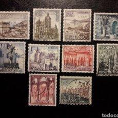 Sellos: ESPAÑA EDIFIL 1541/50 SERIE COMPLETA USADA. PAISAJES Y MONUMENTOS. TURISMO 1964.. Lote 214441650