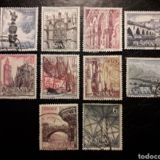 Sellos: ESPAÑA EDIFIL 1643/52 SERIE COMPLETA USADA. PAISAJES Y MONUMENTOS. TURISMO 1965.. Lote 214441766