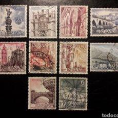 Sellos: ESPAÑA EDIFIL 1643/52 SERIE COMPLETA USADA. PAISAJES Y MONUMENTOS. TURISMO 1965.. Lote 214441782