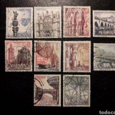 Sellos: ESPAÑA EDIFIL 1643/52 SERIE COMPLETA USADA. PAISAJES Y MONUMENTOS. TURISMO 1965.. Lote 214441816