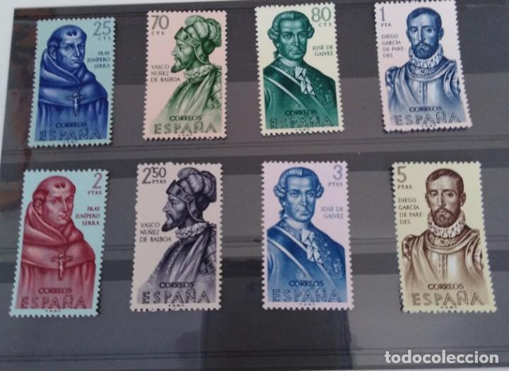 SERIE DE SELLOS FORJADORES DE AMÉRICA ESPAÑA (Sellos - España - II Centenario De 1.950 a 1.975 - Nuevos)