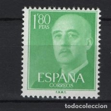 Francobolli: .G-SUB_8/ ESPAÑA 1955-56 EDIFIL 1156 MNH**, GENERAL FRANCO. Lote 215231490