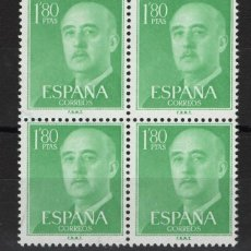 Francobolli: .G-SUB_8/ ESPAÑA 1955-56 EDIFIL 1156 MNH**, GENERAL FRANCO. Lote 280484763