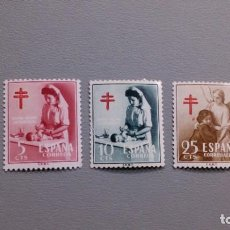 Sellos: ESPAÑA - 1953 - EDIFIL 1121/1123 - SERIE COMPLETA - MNH** - NUEVOS - PRO TUBERCULOSOS.. Lote 216380610