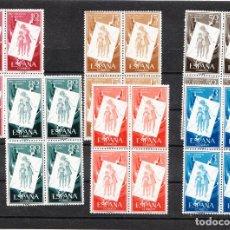 Sellos: 1956 PRO-INFANCIA HÚNGARA EDIFIL 1200/05 EN BLOQUES DE 4 SIN CHARNELA CON GOMA NUEVOS. Lote 216500378