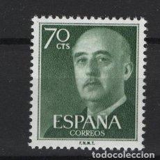 Sellos: .G-SUB_8/ ESPAÑA 1955-56. EDIFIL 1151 MNH**, GENERAL FRANCO. Lote 216644973