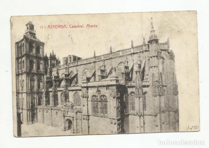 Sellos: postal catedral circulada 1953 de astorga leon a barcelona - Foto 2 - 216705892