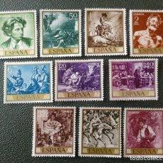 Selos: ESPAÑA. 1854/63 PINTOR MARIANO FORTUNY. 1968. SELLOS NUEVOS Y NUMERACIÓN EDIFIL.. Lote 216870010