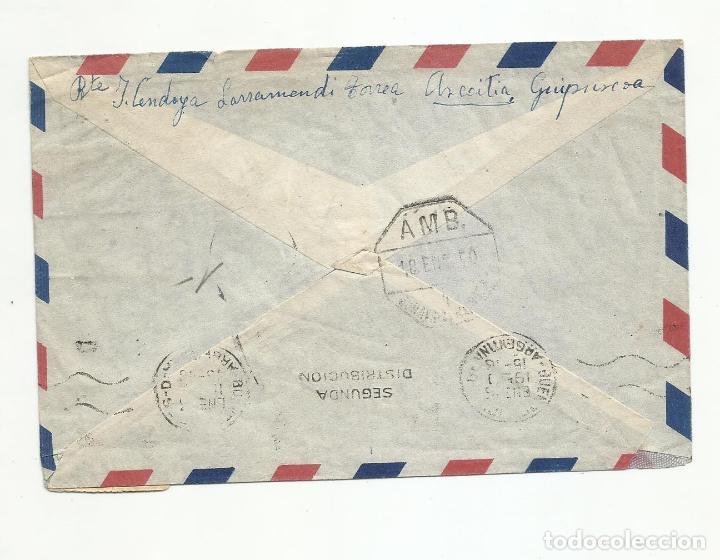 Sellos: circulada 1950 de azcoitia guipuzcoa a buenos aires argentina - Foto 2 - 216944372