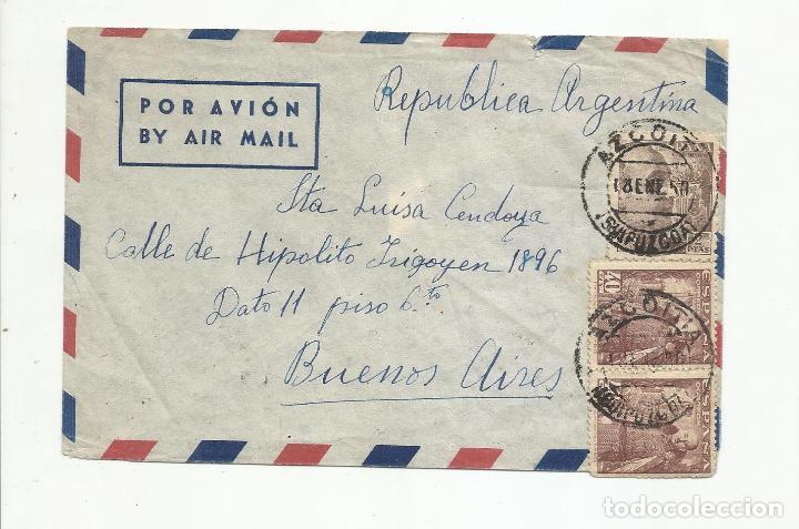 CIRCULADA 1950 DE AZCOITIA GUIPUZCOA A BUENOS AIRES ARGENTINA (Sellos - España - II Centenario De 1.950 a 1.975 - Cartas)
