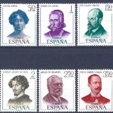 Sellos: EDIFIL 1990-1995 LITERATOS ESPAÑOLES 1970 (SERIE COMPLETA). MNH **. Lote 234026355