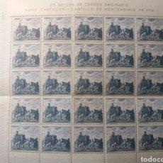 Sellos: PLIEGO 25 SELLOS CASTILLO DE MONTEAGUDO 1966. Lote 217698186