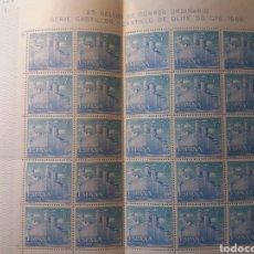 Sellos: PLIEGO COMPLETO CASTILLO DE OLITE 1966. Lote 217699191