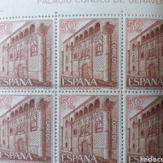 Sellos: PLIEGO COMPLETO PALACIO CONDES DE BENAVENTE 1968. Lote 217705856