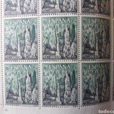 Sellos: PLIEGO COMPLETO CUEVAS DEL DRAC. Lote 217707375