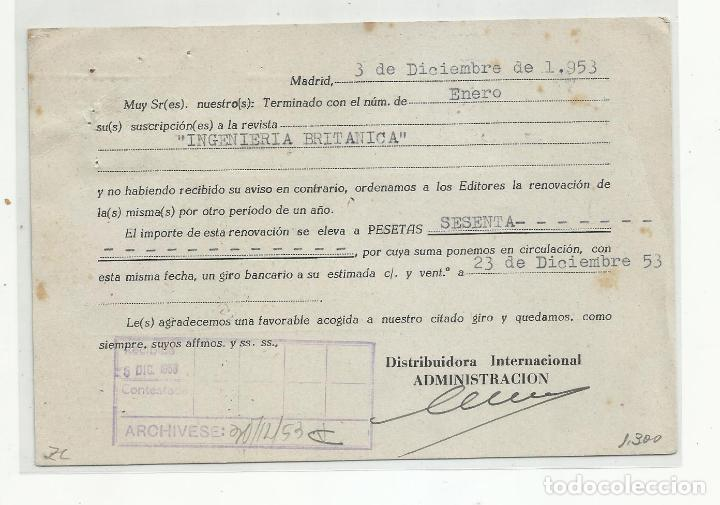 Sellos: tarjeta circulada 1953 de madrid a zumarraga guipuzcoa - Foto 2 - 217767865
