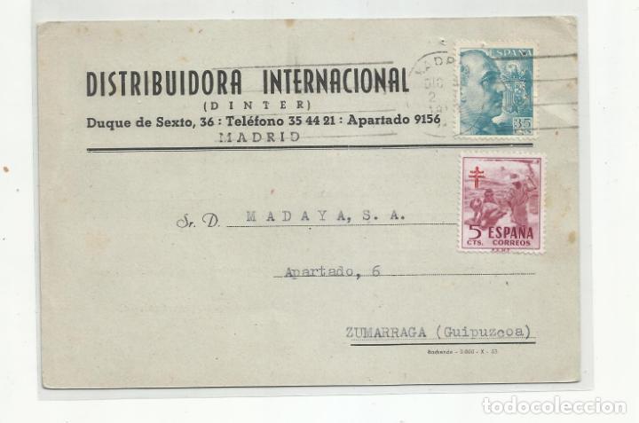TARJETA CIRCULADA 1953 DE MADRID A ZUMARRAGA GUIPUZCOA (Sellos - España - II Centenario De 1.950 a 1.975 - Cartas)