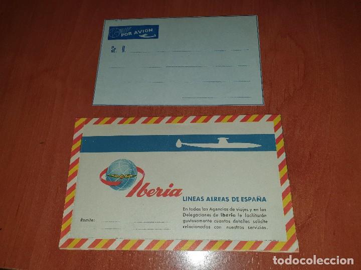 CORREO AEREO DE IBERIA Y HOTEL CARLTON DE BILBAO, SOBRES (Sellos - España - II Centenario De 1.950 a 1.975 - Cartas)