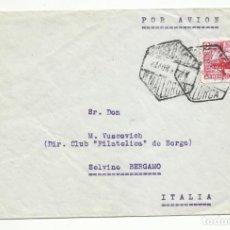Sellos: CIRCULADA 1949 DE PALMA DE MALLORCA BALEARES A BERGAMO ITALIA. Lote 218608676